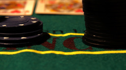 Poker 15 dolly right Stock Video Footage