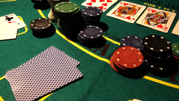 Poker 23 dolly left Stock Video Footage