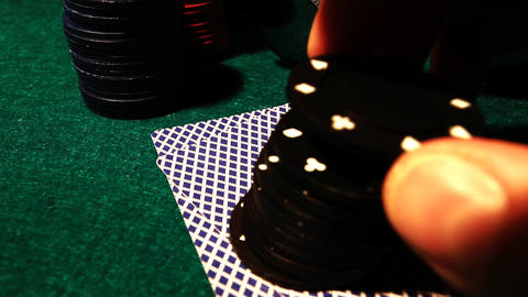 Poker 56 hesitate all in Stock Video Footage