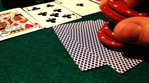 Poker 59 hesitate drop Stock Video Footage
