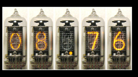 Nixie digital countdown Animation