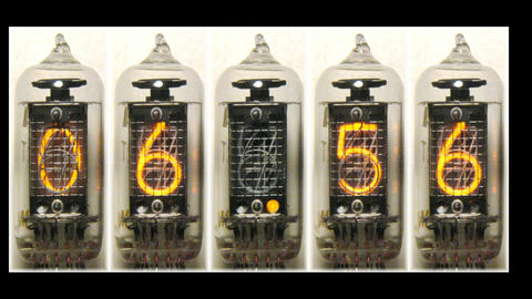 Nixie digital countdown Stock Video Footage