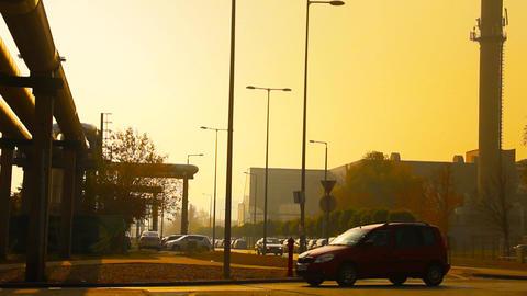 Industrial Suburban Area 08 in haze stylized Footage