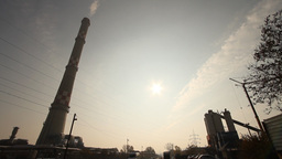 Industrial Suburban Area 04 factory tower Stock Video Footage