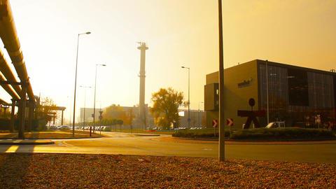 Industrial Suburban Area 10 in haze stylized Footage