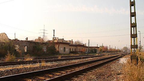 Junk Environment at Railway 01 suburban area Stock Video Footage
