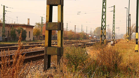 Junk Environment at Railway 03 suburban area Stock Video Footage