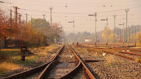 Junk Environment at Railway 05 suburban area Stock Video Footage