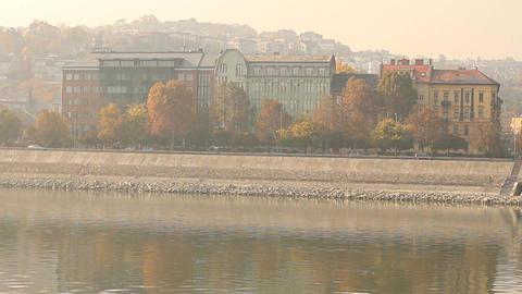 Smog Haze in European City 01 Stock Video Footage