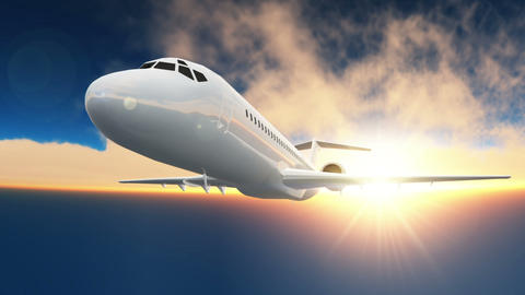 Airplane Stock Video Footage