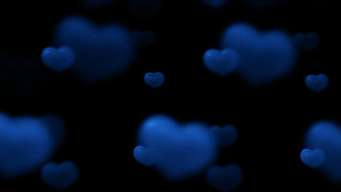 blue heart.wedding,flare,festival,aurora,glow,pulse Stock Video Footage