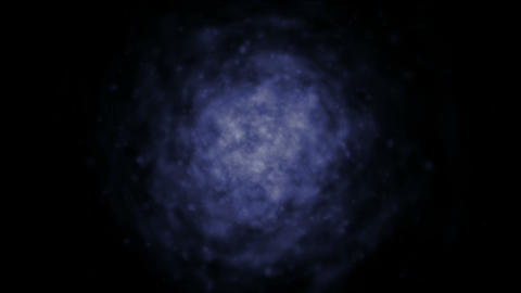 blue nebula in darkness space.universe,clouds,planets,stars,smoke Animation