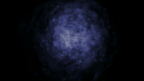blue nebula in darkness... Stock Video Footage