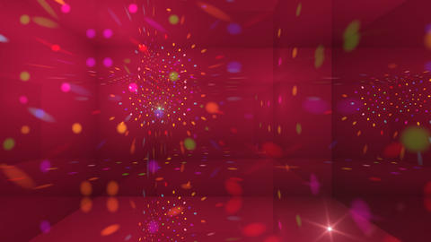 Disco Light Cg HD Stock Video Footage