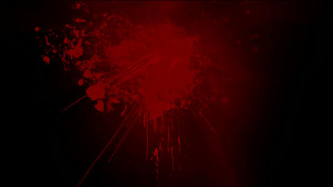 Red ink splash... Stock Video Footage
