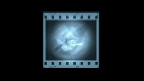 abstract blue film... Stock Video Footage