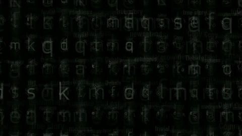 alphabet matrix background,computer letters tech.Files,storage,backup,mathematics,numbers,accounts,t Animation