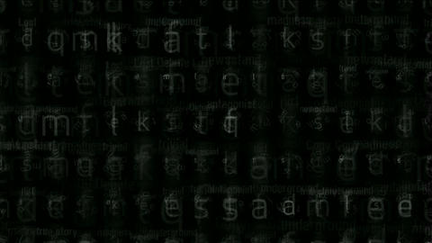 alphabet matrix background,computer letters... Stock Video Footage