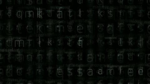 alphabet matrix background,computer letters... Stock Video Footage