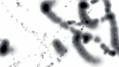 splash black liquid,black ink,watercolor style,Nematodes,worms,Bacteria Animation