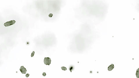 Falling large diamonds and gems,broken glass debris flying,quartz Animation