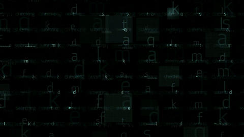 abstract letters matrix... Stock Video Footage