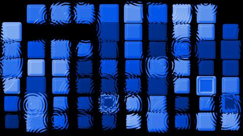 blue matrix mosaics and... Stock Video Footage