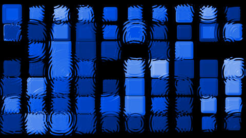 blue matrix mosaics and... Stock Video Footage