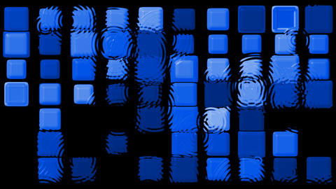 blue matrix mosaics and ripple,game,Tetris.mosaics,square,rectangle,drip Animation