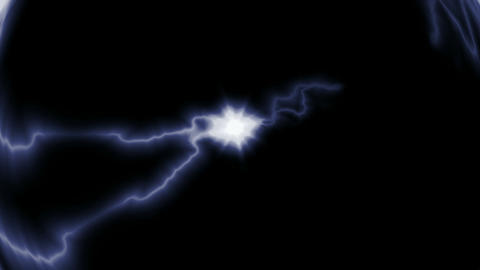 Blue Lightning... Stock Video Footage