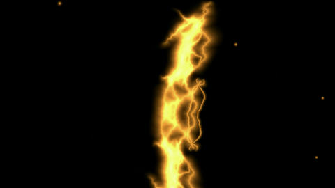 Golden Lightning Streaks Stock Video Footage