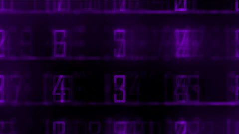 purple digital and number matrix background,business data Stock Video Footage