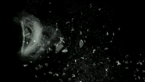 broken glass,splash... Stock Video Footage