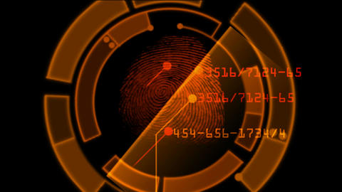fingerprint scan... Stock Video Footage