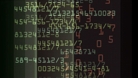 Looping stock exchange data,computer program... Stock Video Footage