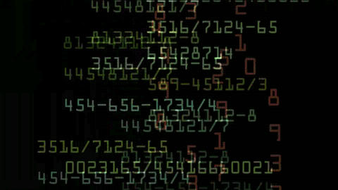 Looping stock exchange data,computer program... Stock Video Footage