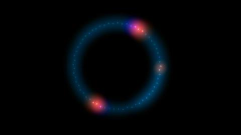 Circular halo pattern,disco neon... Stock Video Footage