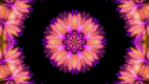 Gorgeous oriental religion flower pattern,Buddhism Animation
