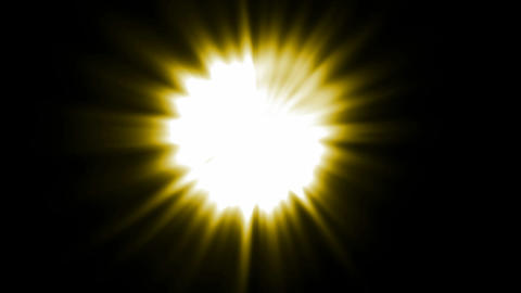 yellow ray light,sunlight,flare laser in space.energy,light,round,science,space Animation
