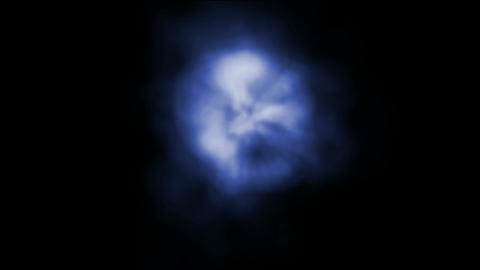 blue smoke,explosion in space.dust,galaxy,light,nebula,science Animation