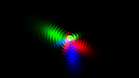 flare circle light with ripple,disco laser... Stock Video Footage