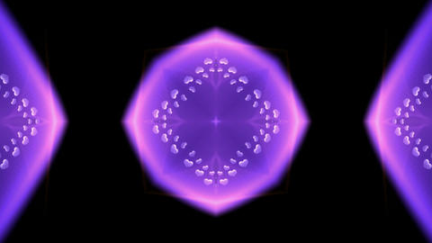 purple heart and diamond pattern,wedding background Stock Video Footage