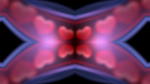 a group of heart passing through the light channel,wedding background,Design,dream, illusion, mind Animation