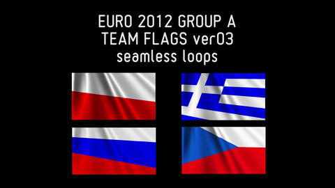 EURO 2012 Group A Flags 03 Stock Video Footage