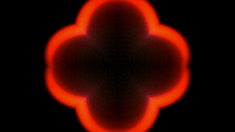 red flower pattern and fire,flare theater screen b Stock Video Footage