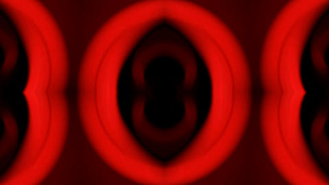 red plastic ring and oval,theater fancy... Stock Video Footage