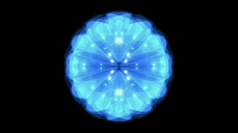 Dazzling circle pattern,blue light and... Stock Video Footage
