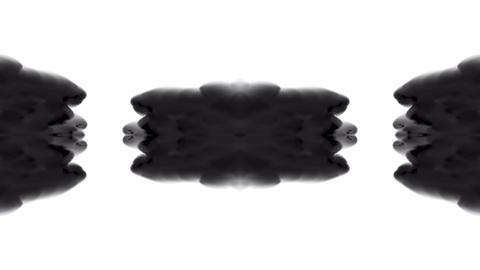black buddhism flower smoke pattern,Oriental lotus ink... Stock Video Footage