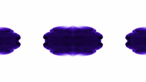 purple flower smoke pattern,Oriental lotus ink fancy... Stock Video Footage