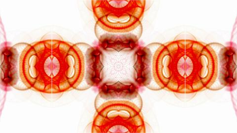 orange rotation flower pattern,oriental watercolor... Stock Video Footage